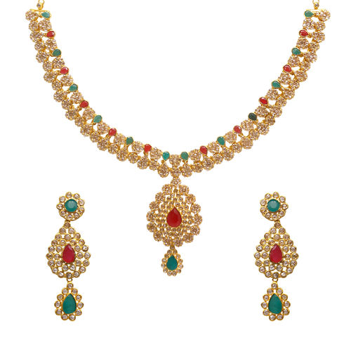set necklace diamond weddings indian uncut
