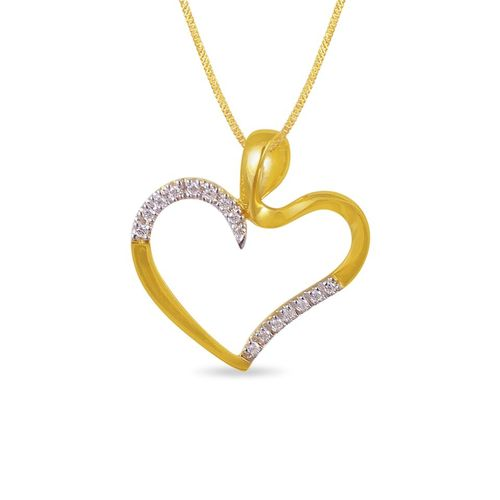 Contemporarily Styled  Heart Pendent