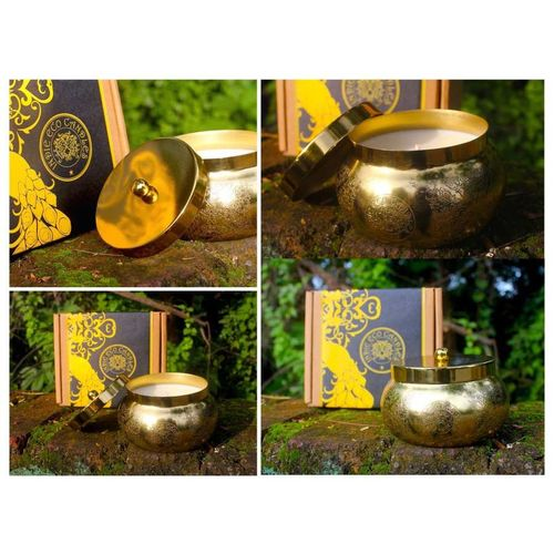 Single Gold Votive In Gift Pack