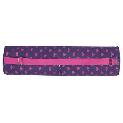 Om Padma Purple Amp Pink Lotus Printed Yoga Mat Bag 70 X 28