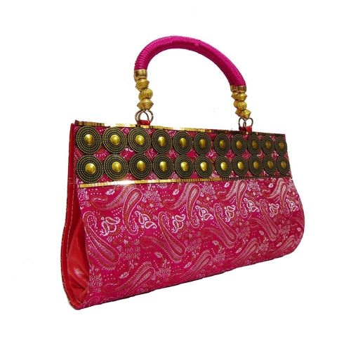 FabSilk Pink  Party Clutch - HWIT1322
