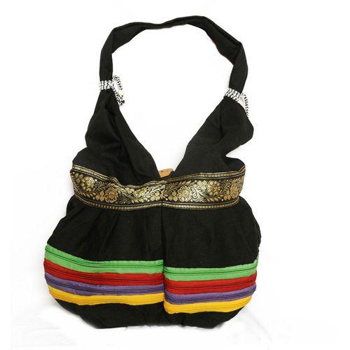 Ethnic Rasa Black Ethnic Handbag - HWIT1402