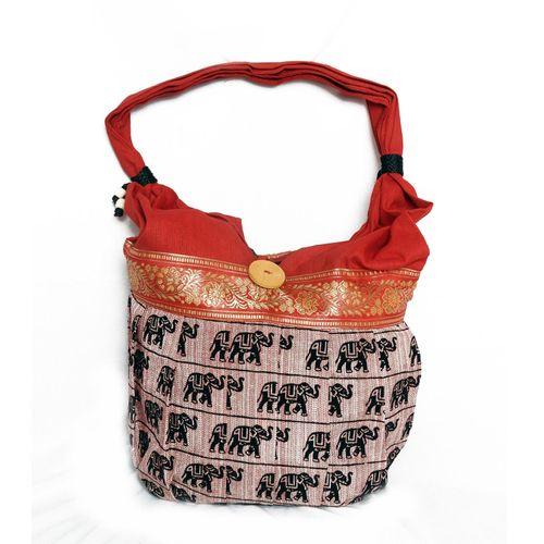 Orange Ethnic Handbag - HWIT1405