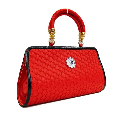 FabSilk Red Party Clutch - HWIT1631