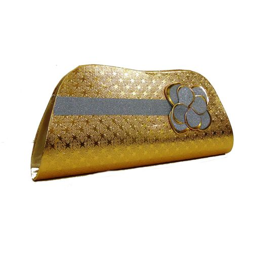 Sevvone Golden  Party Clutch - HWIT2253