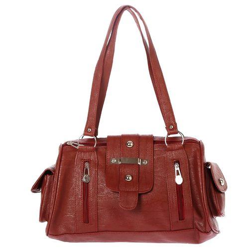 Maroon Handbag - MEST4002