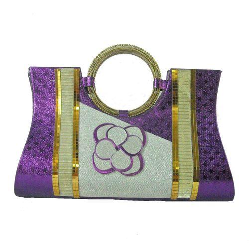 Adhira Arts Purple  Party Clutch - HWIT841