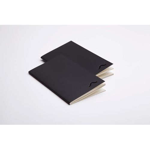 Rubberband  95X165 Mm Ruled Notebook Matt Black Cover 48 Pages