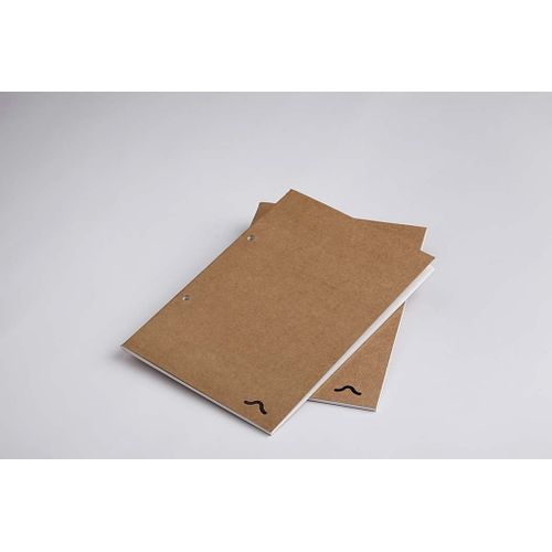 Rubberband A5 Plain Notebook Kraft Card Cover 64 Pages