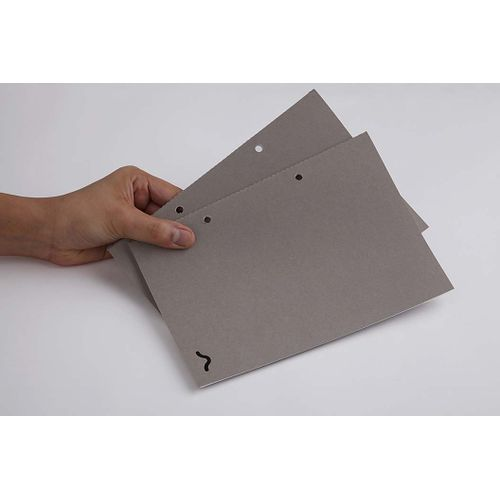 Rubberband A5 Plain Notebook Grey Card Cover 64 Pages