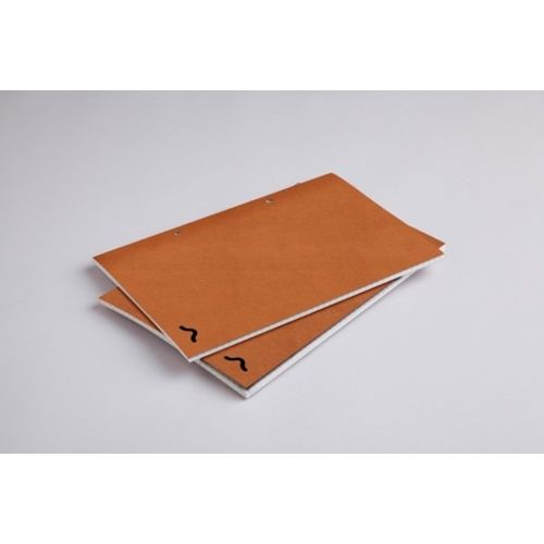 Rubberband A5 Checks Notebook Kraft Card Cover 64 Pages