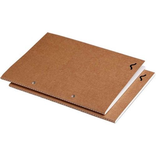Rubberband A5 Plain Note Pad Kraft Cover