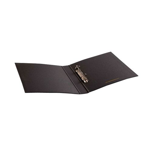 Rubberband A5 Grey Color Ring Binder With Two Clips