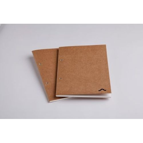 Rubberband A5 Checked Note Pad Kraft Cover