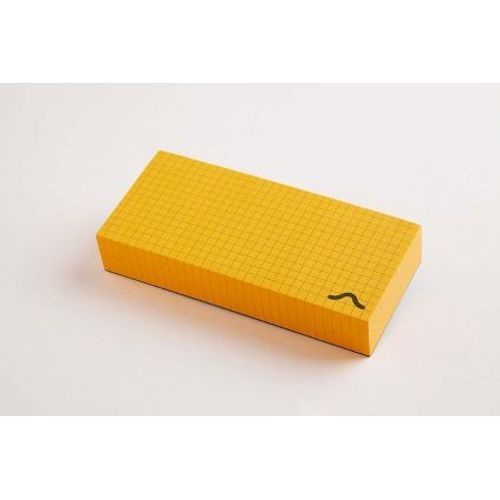 Rubberband Memo Block Note Pad Yellow
