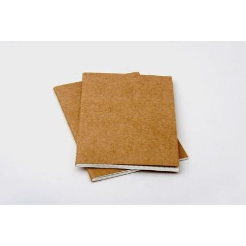 Rubberband Slim Series A6 Pack Of Two Checked Notebook Kraft Card Cover 64 Pages