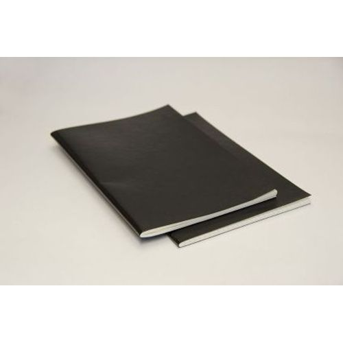 Rubberband  Slim Series A5 - Pack Of 2 Checks Notebook Black Pu 64 Pages