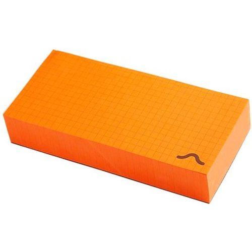 Rubberband Memo Block Note Pad Orange
