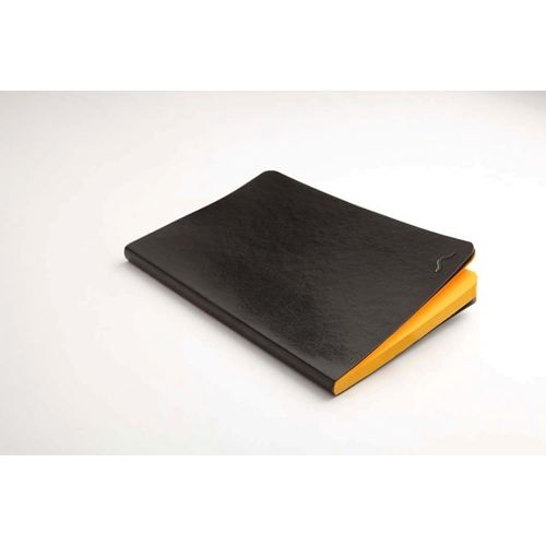 Rubberband 95 X 165 Mm Paint Box Series Chromise Yellow Plain Notebook Black Pu And Has 192 Pages