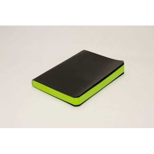Rubberband A6 Paint Box Series Green Plain Notebook Black Pu And Has 240 Pages
