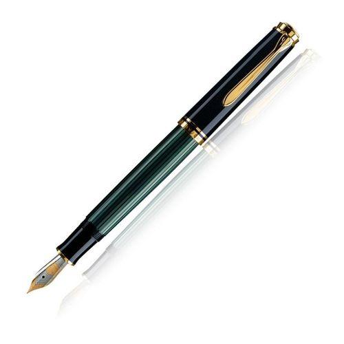 Pelikan Souveran Mini  M300 14Kt Medium Nib Fountain Pen Black And Green