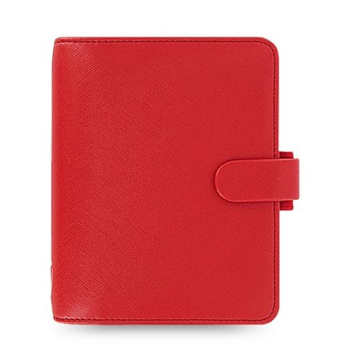 Filofax Saffiano 22471 Poppy Red Pocket Organiser