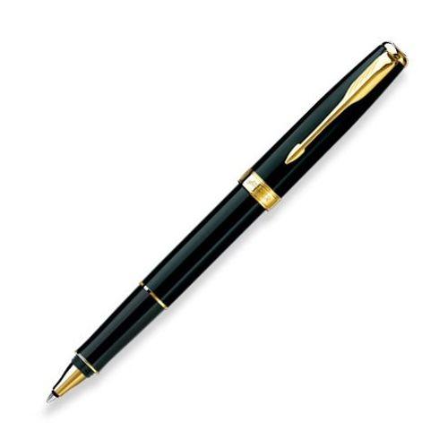 Parker Premium Roller Ball Pen Black Lacquered Gt Sonnet