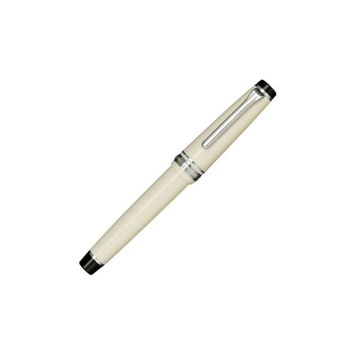 Sailor Fountain Pen Ivory Ct Professional Gear 21K Gold - Rhodium Plated Broad Nib