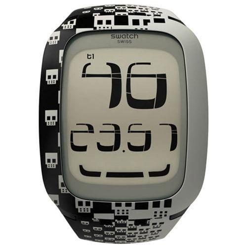 Swatch Unisex Watch Surb101 Digital - Touch Skull