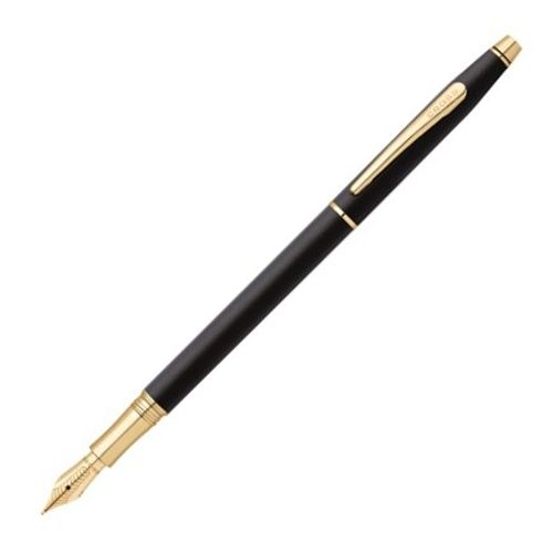 Cross Fountain Pen At0086-79Mf Classic Century 23Kt Gold Plated - Medium Nib