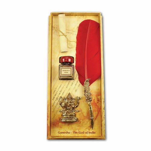 Rubinato Red Ganesha Set Quill Pens