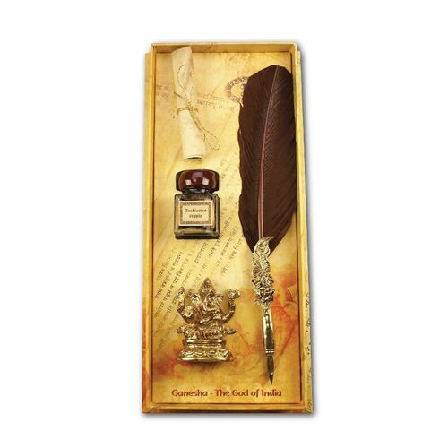 Rubinato Brown Ganesha Set Quill Pens
