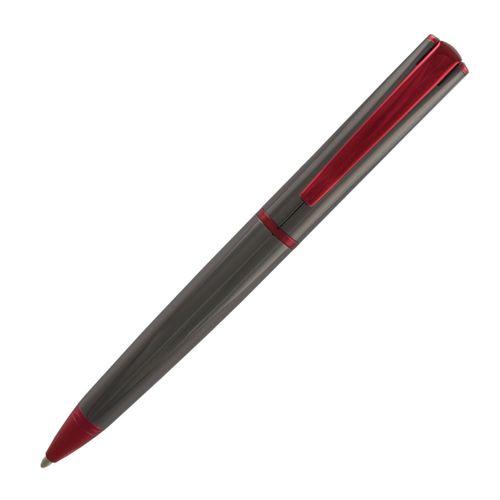 Monteverde Ball Pen Impressa MV29875 Red Trim Gun Metal