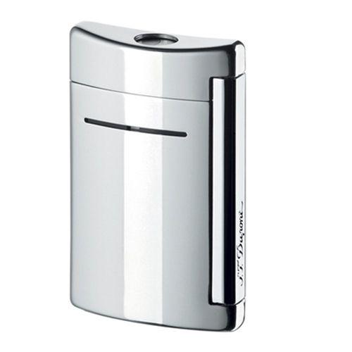 S T Dupont Lighter Minijet 10020 Chrome Grey
