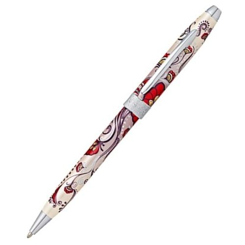 Cross Ball Point Pen Botanica AT0642-3 Floral Pattern Red Hummingbird Vine