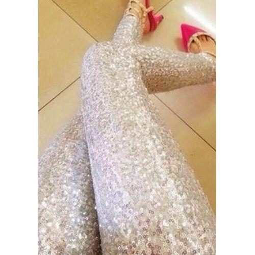 Silver Sequin Shimmer Leggings