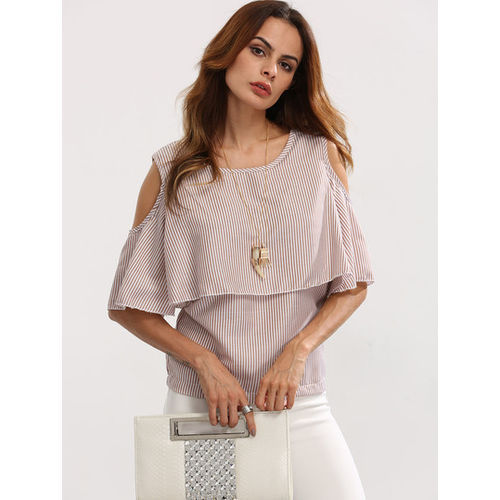 Open Shoulder Layered Top