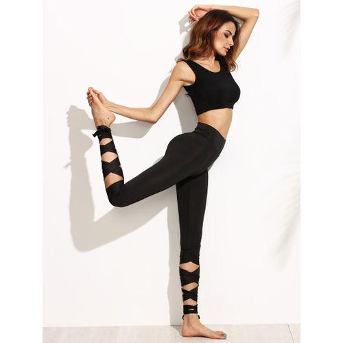 Black Tie-up leggings