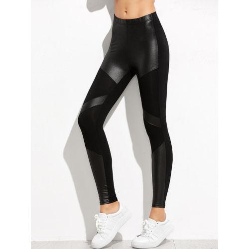 Black Contrast Skinny Leggings