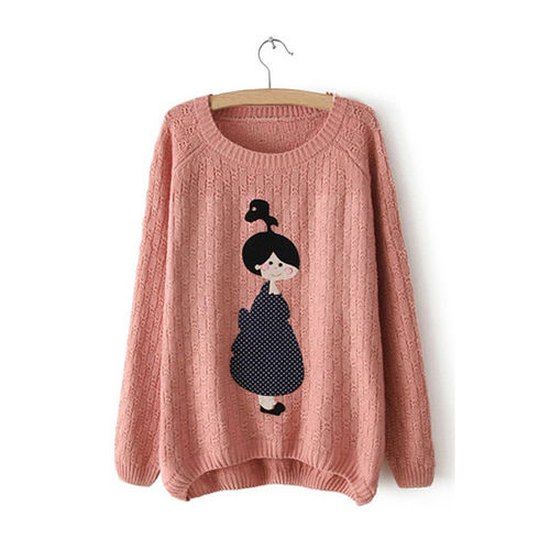 Pink Character Sweater