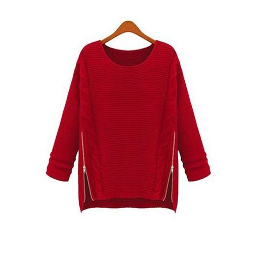 Red Zipper Sweater