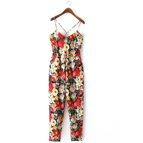 Red Strapy Jumpsuit