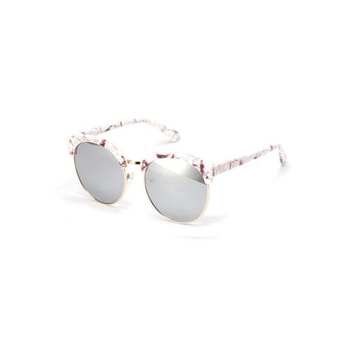 White Marble Cateyed Sunglasses
