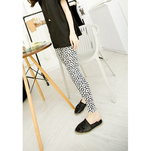 Square Print Monochrome leggings