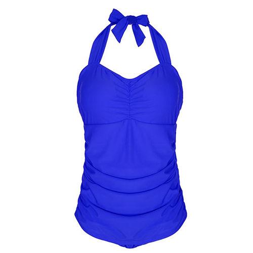 Blue Halter Monokini