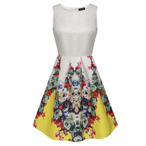Yellow Cocktail Skater Dress