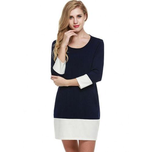 Navy Blue Shift Mini Dress
