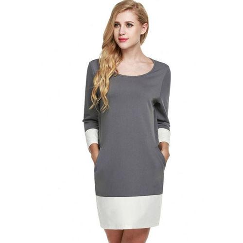 Grey Shift Mini Dress