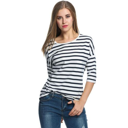 Classic White Striped Top