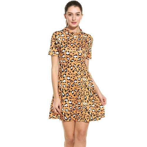 Yellow Animal Print Dress